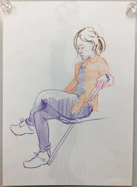 色鉛筆/紙 B4サイズ