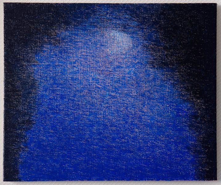 「sumiyoshi」2011年 キャンバス・油彩 380×455(mm)
